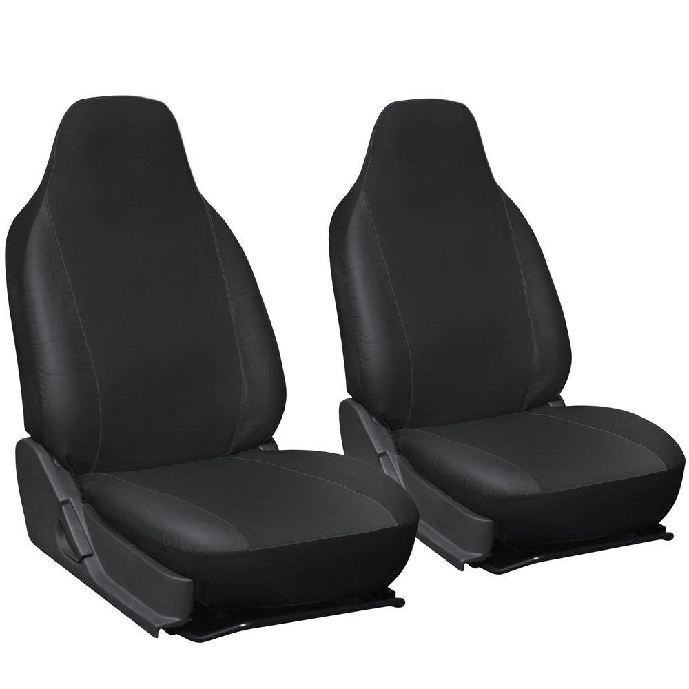 Amazon Oxgord 2pc Integrated Leatherette Bucket Seat Covers Universal Fit For Car Truck Van SUV