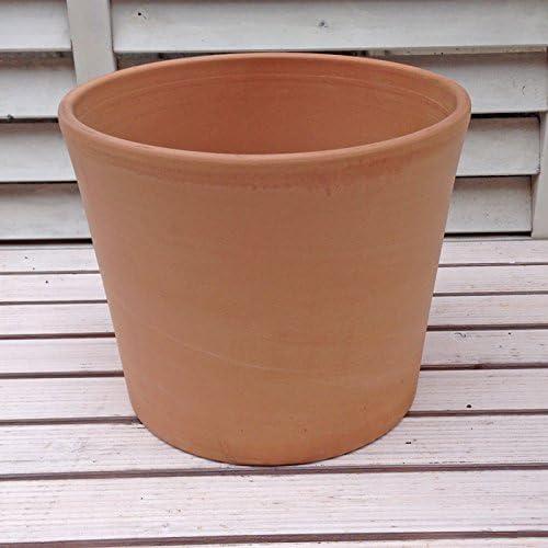 イタリア製テラコッタ鉢 シリンドリコ ホワイト 25cm /植木鉢