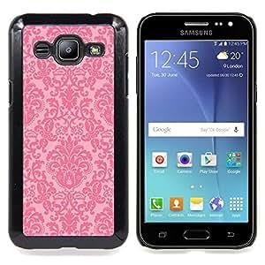 """For Samsung Galaxy J2 / J200 Case , Vintage rústico retro Pink Wallpaper"""" - Diseño Patrón Teléfono Caso Cubierta Case Bumper Duro Protección Case Cover Funda"""