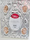 Better Homes & Gardens Silver Finish Baby's 'My First Year' Picture Frame