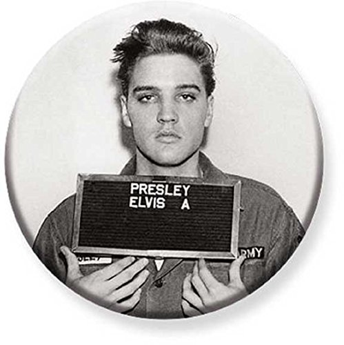 1.25 inch Pinback Button Badge Elvis Presley - Enlistment