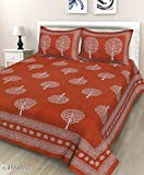 JAIPUR PRINTS King Size 1 Double bedsheet with 2 Pillow Cover Cotton King Size Double Bedsheet with Pillow Cover