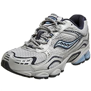 Saucony Women's Grid Excursion TR 3 Running Shoe,Silver/Navy/Blue,5 W