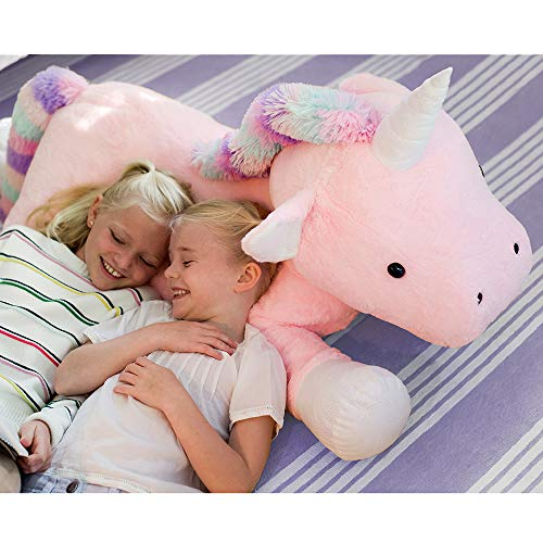 Animal Adventure, Sqoosh2Poof, Jumbo Plush Unicorn