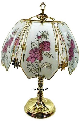 Rose Touch Lamp with Polished Brass Base