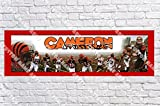 Personalized Cincinnati Bengals Banner - Includes Color Border Mat, With Your Name On It, Party Door Poster, Room Art Decoration - Customize