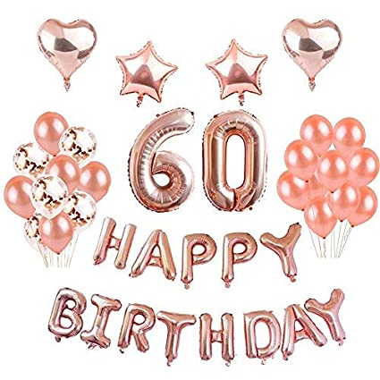 Weimi 60th Birthday Decorations Latex Balloons For Party Foil Amazoncouk Toys Games