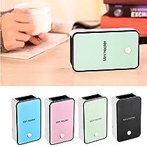 Mini Fan Heater, Portable Winter Home Office Desktop Electric Air Pocket Hand Warmer Rechargeable Heater(Blue)