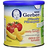 GERBER Lil' Crunchies, Zesty Tomato, Toddler Snacks, 6 x 42 g (Pack of 6)