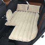 STAZSX Recumbent car inflatable bed car mattress travel bed children's back row sleeping pad sedan air cushion, beige-135x78CM