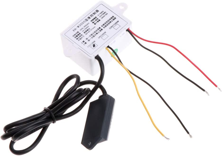Gjyia 12 V-220 V contr/ôleur de contr/ôle dhumidit/é num/érique Interrupteur hygrostat hygrom/ètre capteur 12 V