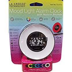 LA Crosse Technology Mood Light Alarm Clock with Nature Sounds