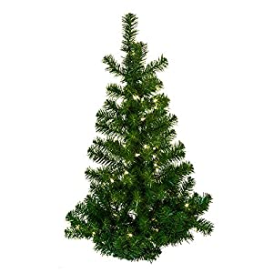 Kurt Adler 36-Inch Pre-Lit Norway Pine Wall Tree 49