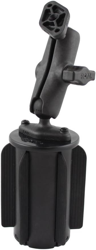 RAP-299-3-B-102U RAM-A-CAN II Universal Cup Holder Mount w// Double Socket Mount