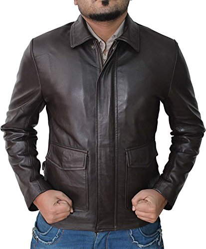 Indiana Jones Raiders Of The Lost Ark Brown Real Leather Jacket - Birthday Gift For Him M