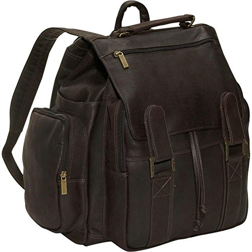David King Leather Top handle XX Large Backpack in Cafe (David Flap Small King)