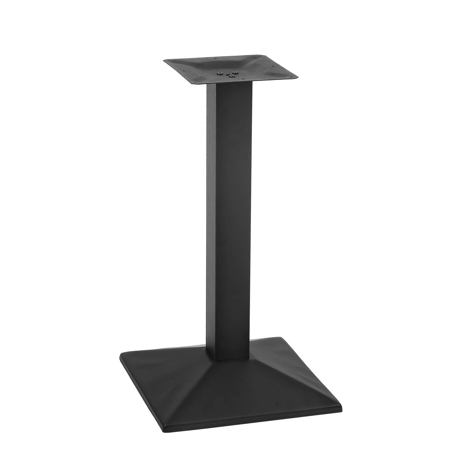 MBQQ Industrial 15.7'' x 15.7'' Square Restaurant Table Base with 3'' Side Length Square Columns,28''Height Furniture Legs by MBQQ