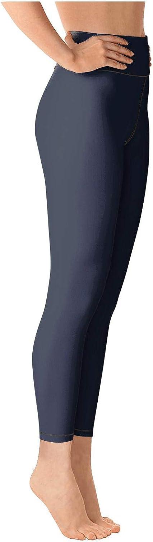medssii Women Yoga Pants Electric Forest Festival White Logo Tummy Hips Yoga Leggings with Pockets