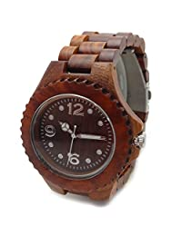 Handmade Wooden Watch Made with Natural Sandalwood in Red - HGW-080