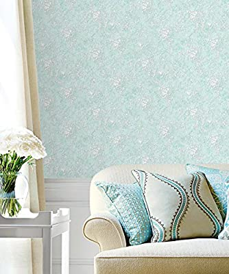 Haokhome 21005 Vintage French Victorian Wallpaper Blue Multi For