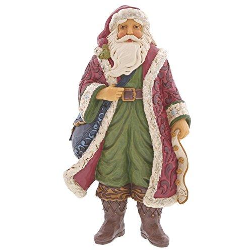 - Enesco Jim Shore Heartwood Creek Victorian Santa with Satchel