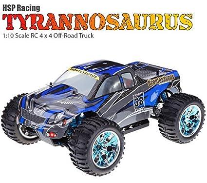 MODELTRONIC Coche RC Gasolina Monster 4X4 Gas Nitro Motor VX18 Escala 1:10 Tyrannosaurus HSP