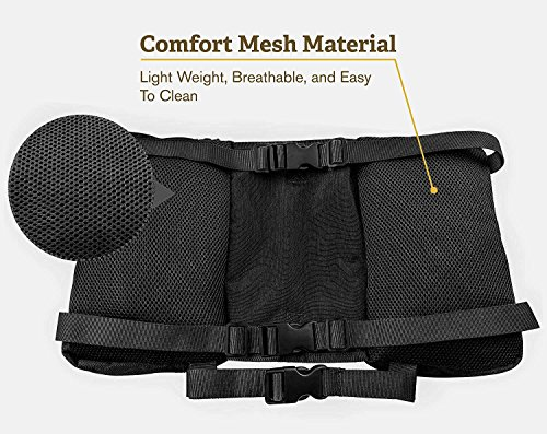 RIGG DOG Oxford Canvas Dog Backpack Saddle Bag Harness - Perfect Dog Hiking Pack for Treks, Camping and Hound Travel | Durable, Lightweight, Saddlebags for Medium and Large Dogs (Black)