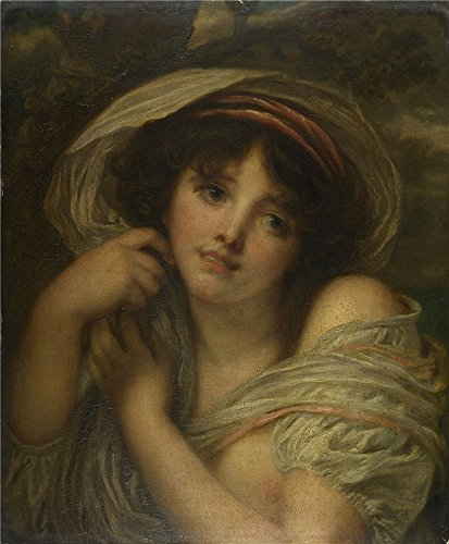 Jeans Embroidered Darling - Oil Painting 'Follower Of Jean-Baptiste Greuze - A Girl,late 18th Century', 16 x 19 inch / 41 x 49 cm , on High Definition HD canvas prints is for Gifts And Bar, Basement And Home Office Decoration