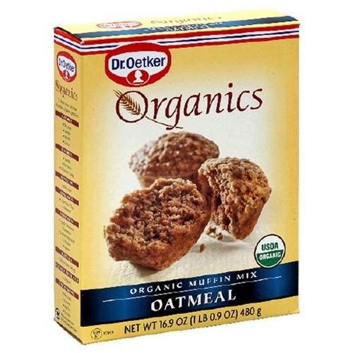 Dr. Oetker Organics Muffin Mix, Oatmeal, 16.9-Ounce Boxes (Pack of 12) by Dr. Oetker