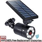 Solar Motion Sensor Light Outdoor Aluminum,1400-Lumen 9-Watt(130W Equiv.) LED Bright Spotlight, 2-Mode Solar Security Lights for Garden Driveway Patio,160-Week 100% Free Replacement Guarante(Black)