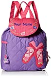Stephen Joseph Personalized Quilted Ballet Dance Shoes Backpack Book Bag