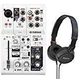 Yamaha AG03 3-Channel Mixer and USB Audio Interface Bundled with On-Ear Stereo Headphones