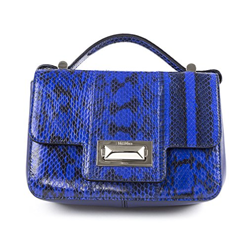 Max Mara Women's HF05S Snake Printed Leather Crossbody Bag One Size Cornflower