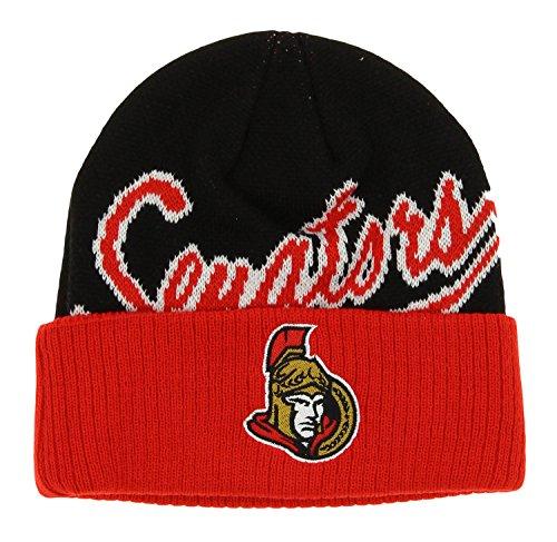 NHL Ottawa Senators Boys 8-20 Basic Cuffed Knit Hat, One Size, ()
