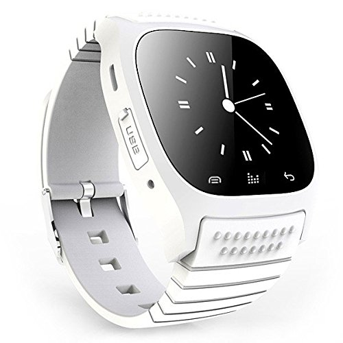 Fashion R-Watch M26 Bluetooth Smart LED Light Display Watch with Dial / Call Answer / SMS Reminding / Music Player / Anti-lost / Passometer / Thermometer for Samsung / HTC + More (White)