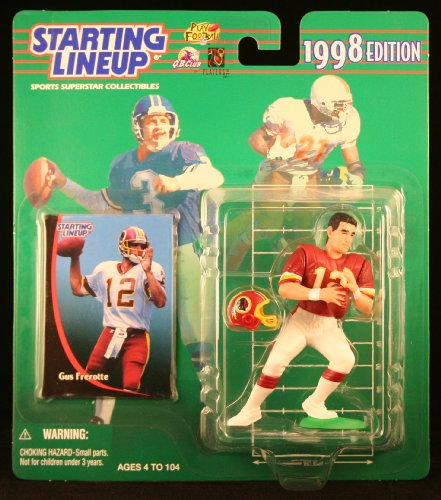 GUS FREROTTE / WASHINGTON REDSKINS 1998 NFL Starting Lineup Action Figure & Exclusive NFL Collector Trading - Washington Dc Outlet