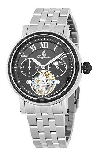 Burgmeister Men's Automatic Stainless Steel Casual Watch, Color:Silver-Toned (Model: BM344-621)