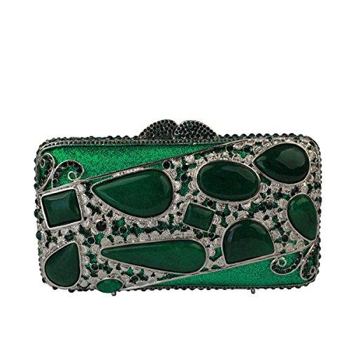 Gems Sac Des Main La Sac Green Femmes Diamant De De Mode Soirée Chaîne à IgCSdwqn
