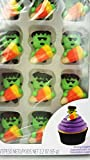 Wilton Icing Decorations Halloween Monster Royal with Candy Corn-12 Count