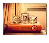 Luxlady Placemat IMAGE ID 30934888 Vintage valve tube amplifier from 1950