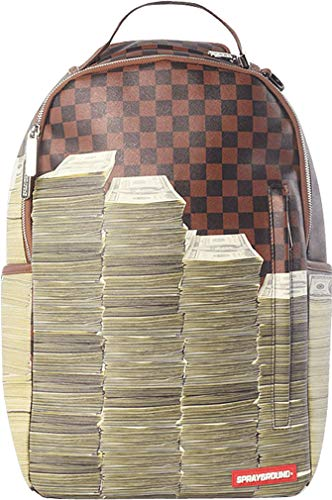 Sprayground Unisex-Adult Checker Money Stacks Backpack One