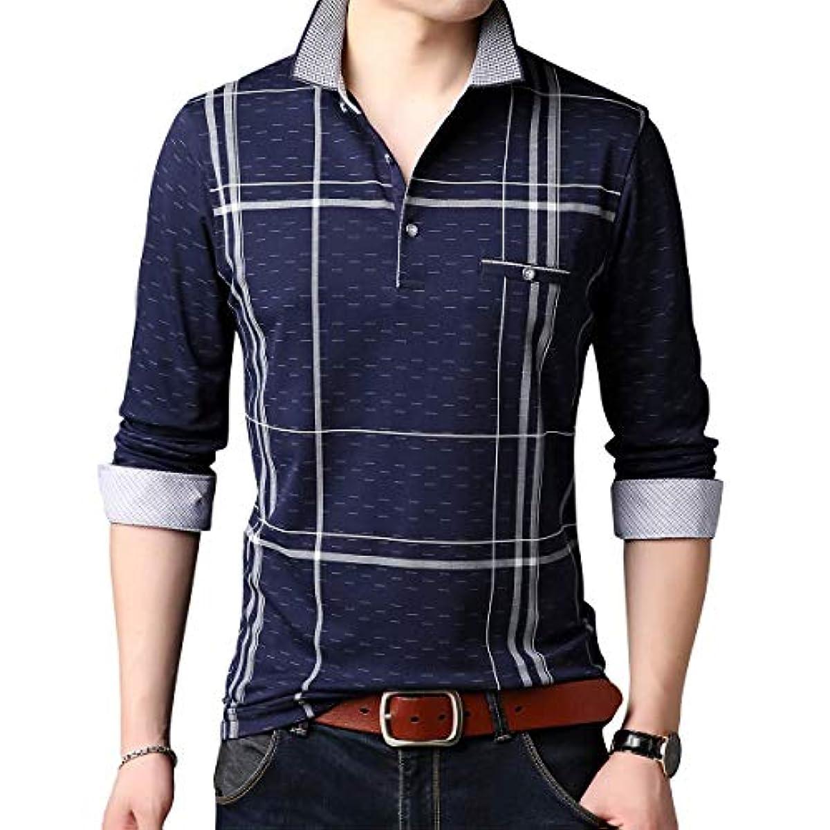 [해외] 폴로 셔츠 맨즈 긴 소매 골프 셔츠 면 멋쟁이 스보―츠 아웃도어 추동춘 캐주얼 비지니스