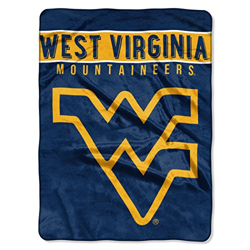 The Northwest Company Officially Licensed NCAA West Virginia Mountaineers Basic Raschel Throw Blanket, 60