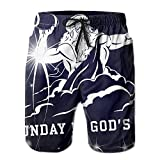 Men's Sunday Is God's Day Swim Trunks Surfing Running Swimming Watershort