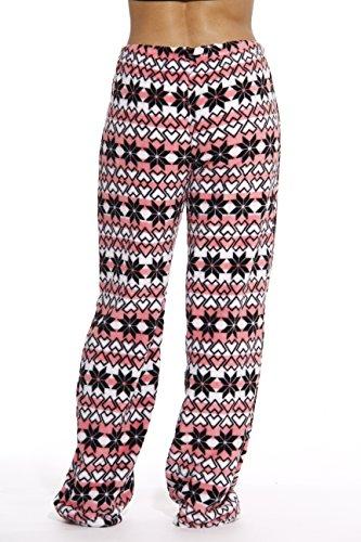 6339-10187-1X Just Love Women's Plush Pajama Pants - Petite to Plus Size Pajamas,Coral - Snowflake,1X Plus by Just Love (Image #2)