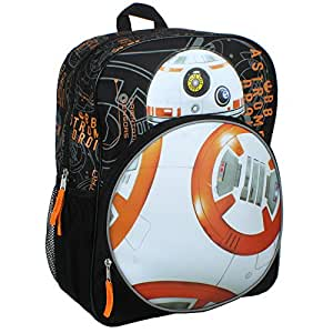 Star Wars Episode VII New Droid Bb8 16 inch Backpack with Lights and Sound!