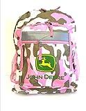 John Deere Pink 16 inch Backpack FTK936Z