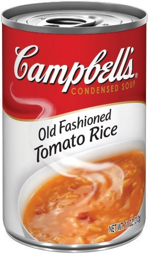 Campbell's, Condensed Old Fashioned Tomato Rice Soup, 11oz Can (Pack of 6)