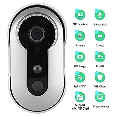 WIFI Wireless video doorbell, Battery Powered, Night Vision, 2-Way Audio, HD Video, Motion Sensor, Door Camera, Smart Video Doorbell