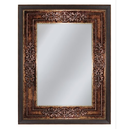 Mahogany Vanity Mirror (Head West Genoa Mirror, 27-Inch by 35-Inch)